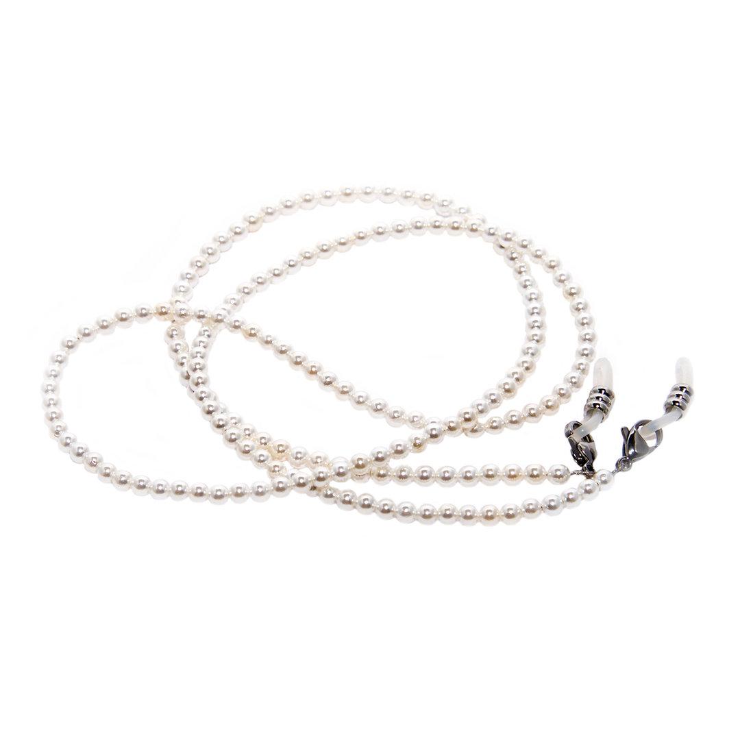 Costante Rainbow Cordon Lunettes Porte-lunette Perles Rc-shell Pearl White 5mm