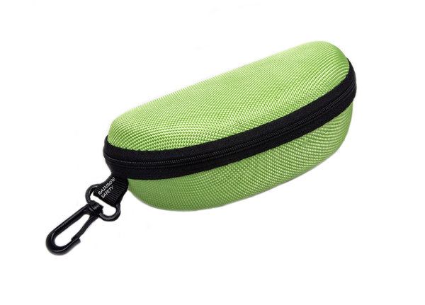 RAINBOW Protective Sunglasses Case Zippered Eyeglasses Protector Microfiber Cloth RB Light green