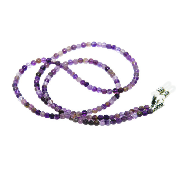 RAINBOW Eyeglass Holder Sunglasses Spectacles Bead Chain Neck Lanyard Cord Amethyst 4-5mm RC