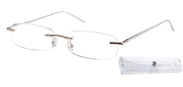 RAINBOW Reading Glasses Rimless Aluminium Frame FlexReader RFRS (+1.00 to +3.00)