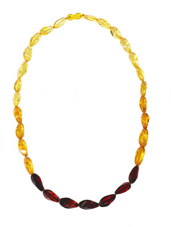 Natural Baltic Amber Necklace Authentic Amber Polished Beads  Jewelry CA15505614