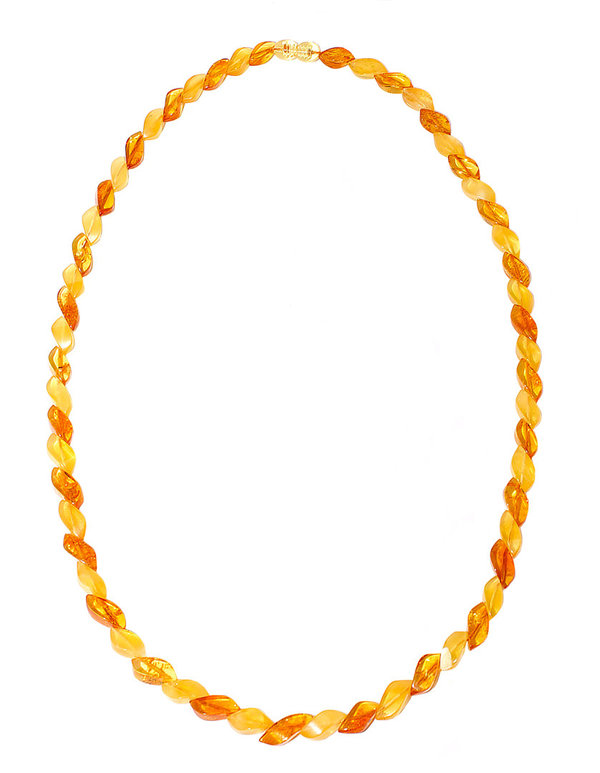 Natural Baltic Amber Necklace Authentic Amber Polished Beads  Jewelry CA18556751