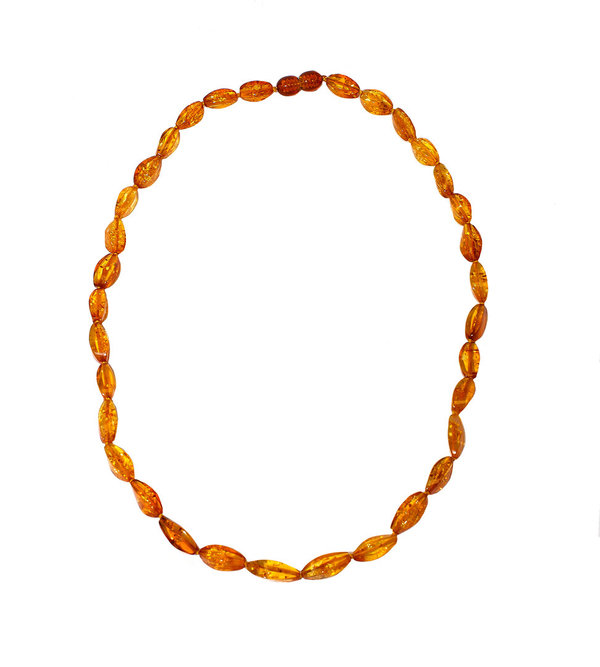 Natural Baltic Amber Necklace Authentic Amber Polished Beads  Jewelry CA10505101