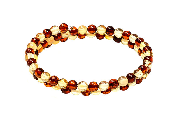Authentic Baltic Amber Beads Multilayer Bracelet Genuine Amber  Jewelry BA07007707