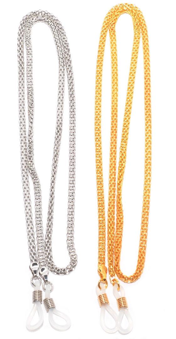 d0a57c64e1001c Rainbow Chaîne Lunettes Cordon Lunettes Porte-Lunettes de Soleil   RC01 SET  Silver+Gold