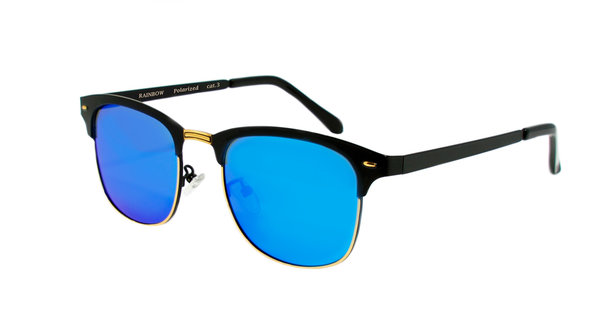 RAINBOW Women's Men's Sunglasses POLARIZED RWNP4 Blue Mirror Cat.3