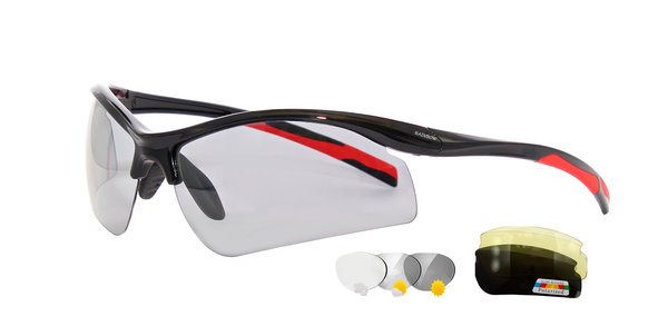 RAINBOW Sport Sunglasses Photochromic Polarized Eyewear Interchangeable Lenses 3296PPH N